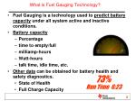 what is fuel gauging technology