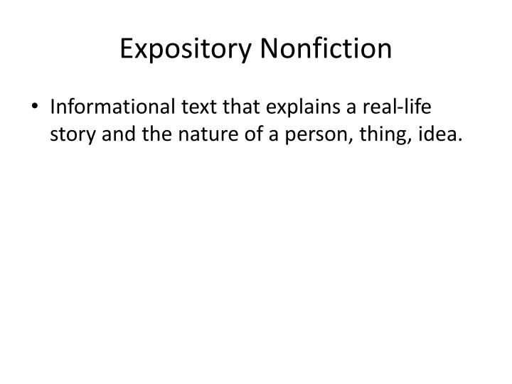 Expository nonfiction