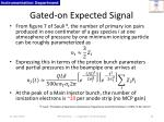gated on expected signal