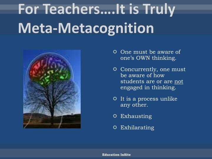 For Teachers….It is Truly Meta-