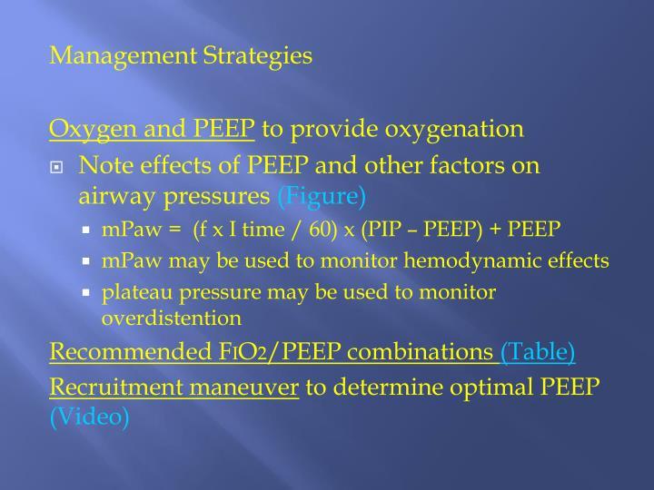 Management Strategies