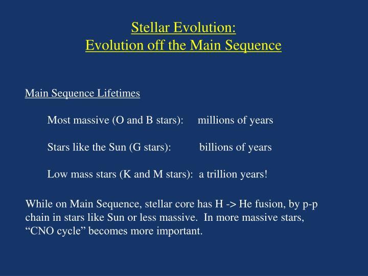 Stellar Evolution: