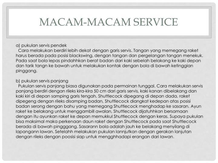 MACAM-MACAM SErvice