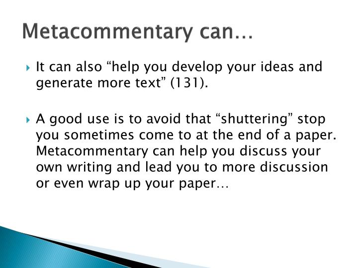 Metacommentary
