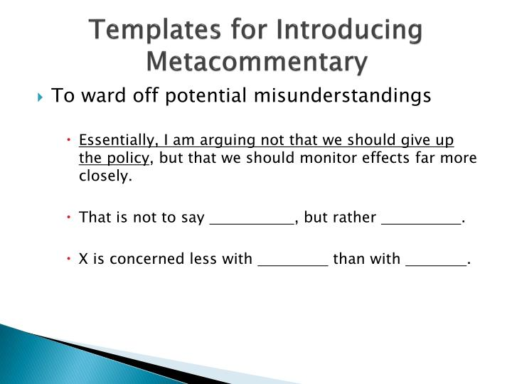 They Say I Say Templates | Ppt They Say I Say Powerpoint Presentation Id 2644730