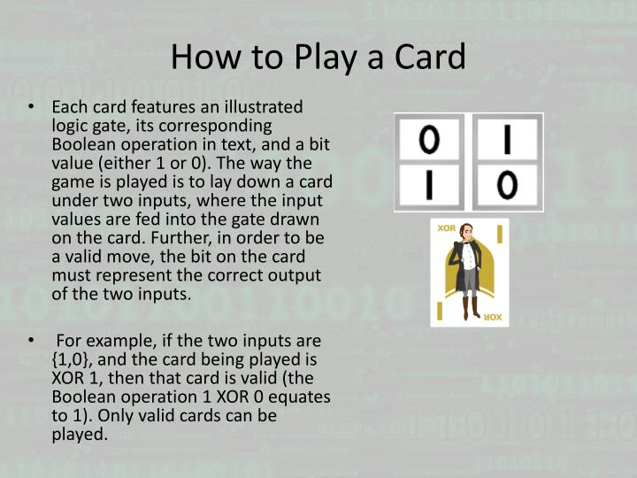 How to Play a Card