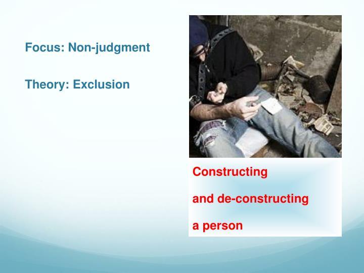 Focus: Non-judgment