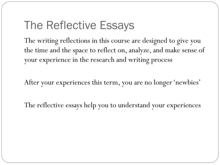 The reflective essays