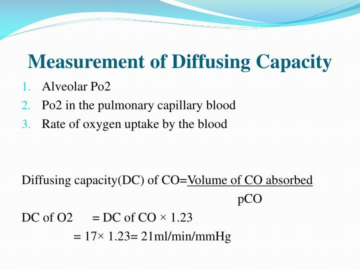 Measurement of Diffusing Capacity