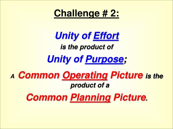 Challenge # 2: