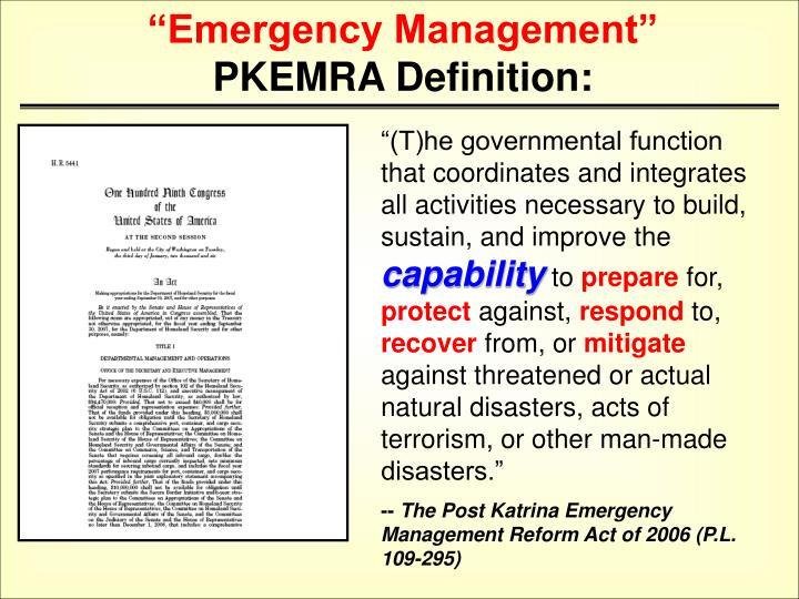 """Emergency Management"""