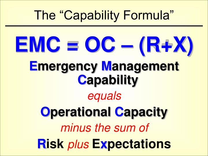 "The ""Capability Formula"""