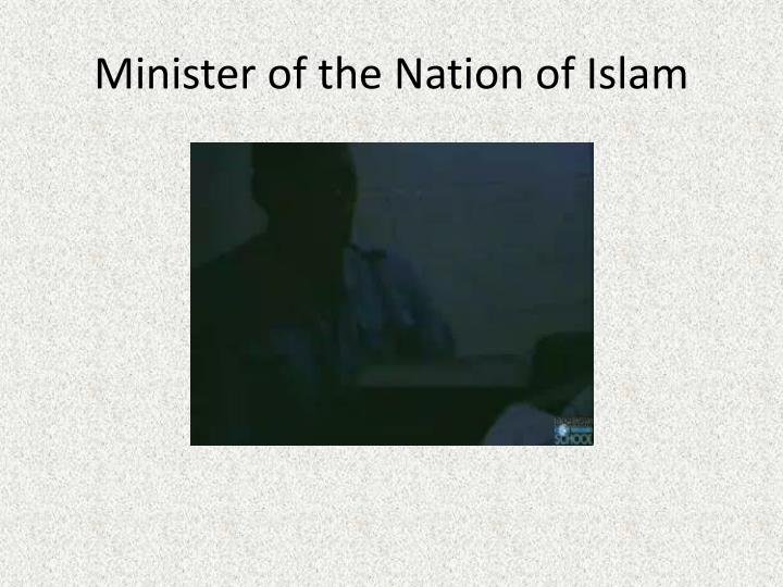 Minister of the Nation of Islam
