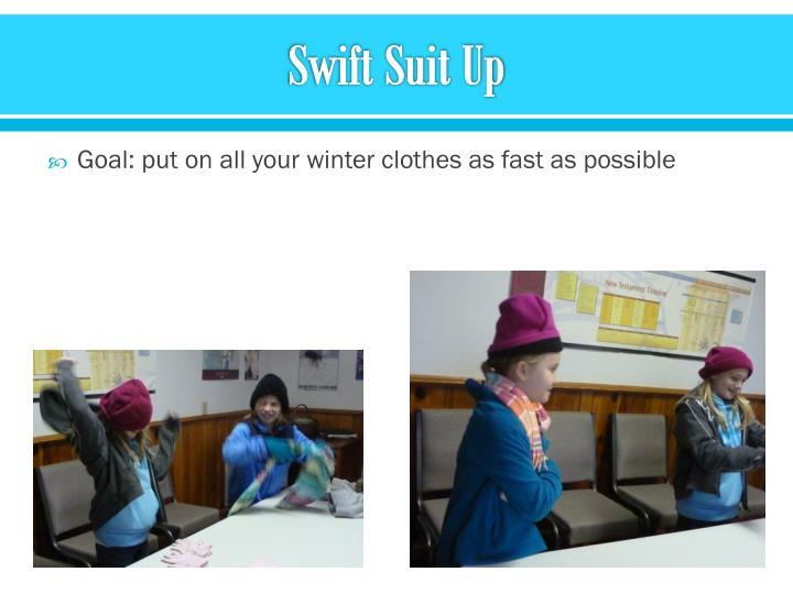 Swift Suit Up