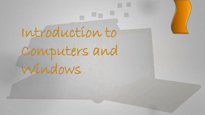 introduction to computers and windows n.