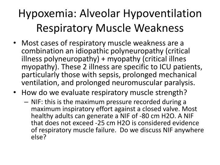 Hypoxemia: Alveolar Hypoventilation