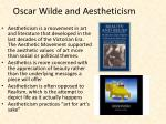 oscar wilde and aestheticism