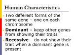 human characteristics