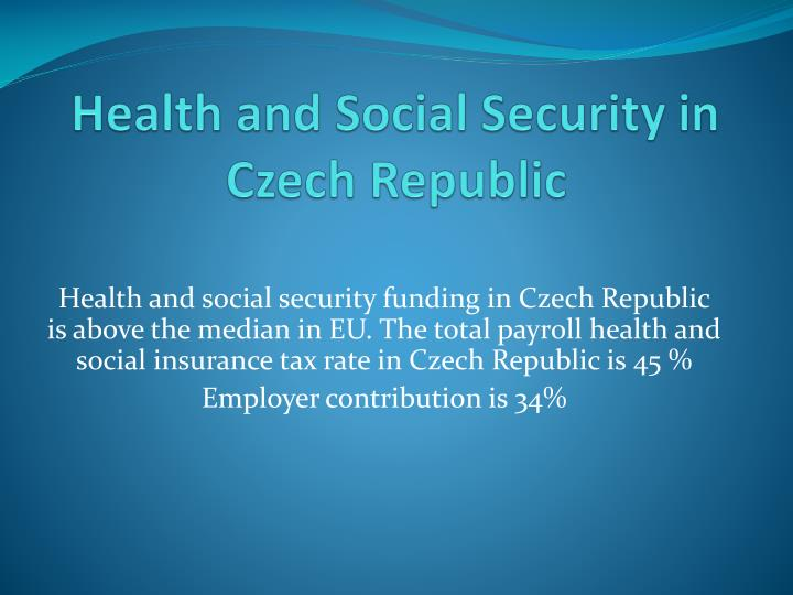 health and social security in czech republic n.