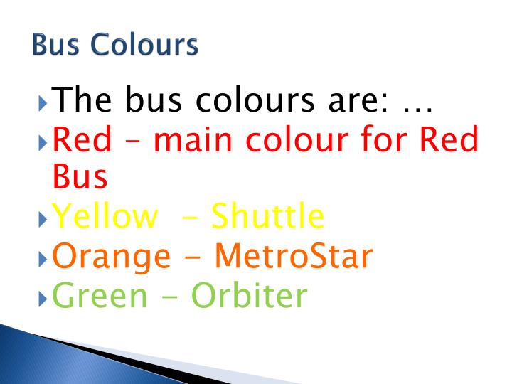 Bus Colours