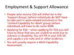 employment support allowance2