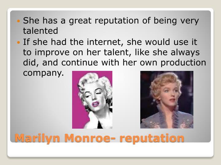 Marilyn monroe reputation