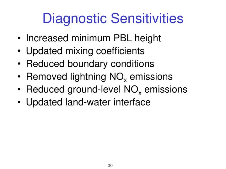 Diagnostic Sensitivities