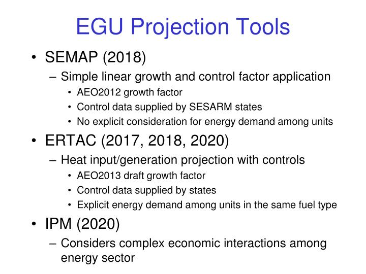 EGU Projection Tools