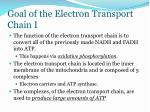 goal of the electron transport chain i