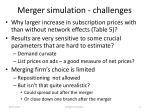 merger simulation challenges