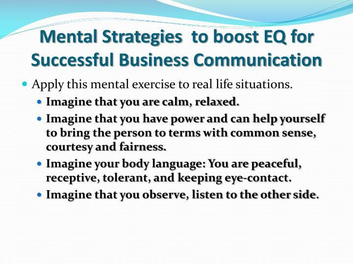 Mental Strategies  to boost EQ for Successful Business Communication
