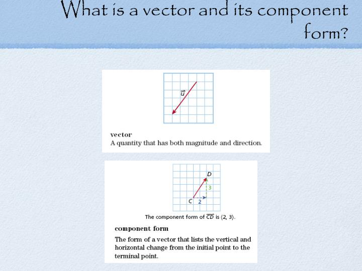 What is a vector and its component form
