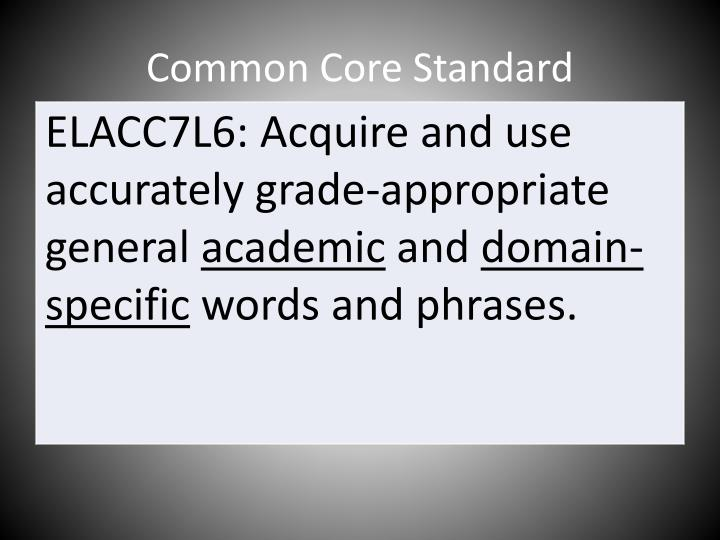 Common Core Standard
