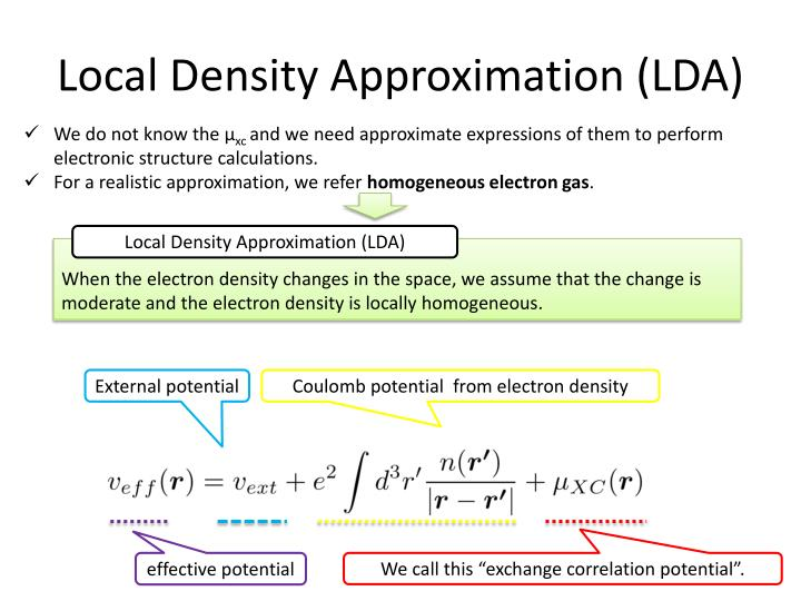 Local Density Approximation (LDA)