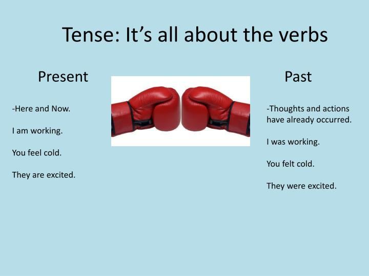 Tense: It's all about the verbs