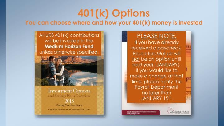 401(k) Options