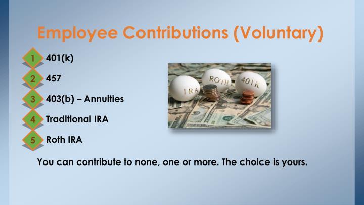 Employee Contributions (Voluntary)