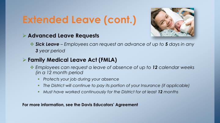 Extended Leave (cont.)