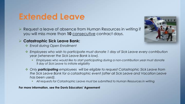 Extended Leave