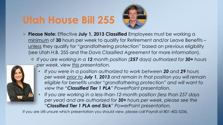 Utah house bill 255