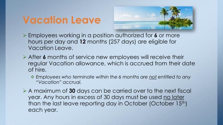 Vacation Leave