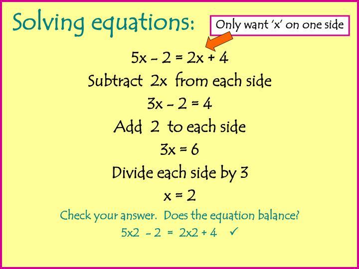 Solving equations1