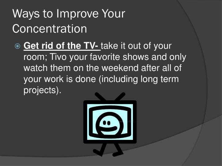 Ways to Improve Your Concentration