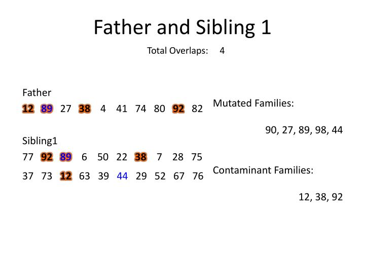 Father and Sibling 1