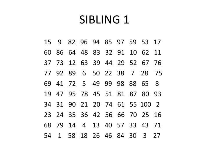 SIBLING 1