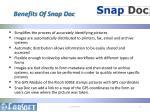 benefits of snap doc