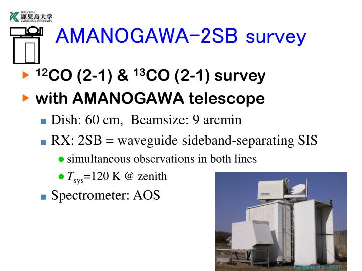 AMANOGAWA-2SB survey