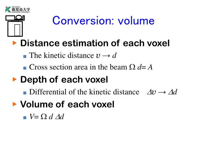 Conversion: volume