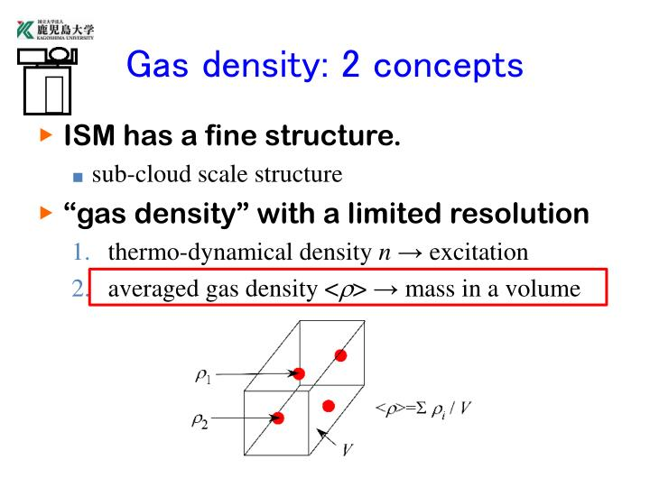 Gas density 2 concepts