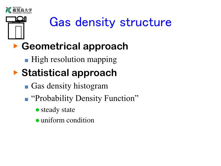 Gas density structure